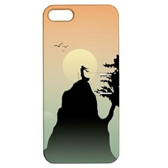 Cliff Mountain Tree  Apple Iphone 5 Hardshell Case With Stand by amphoto