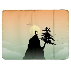 Cliff Mountain Tree  Samsung Galaxy Tab 7  P1000 Flip Case by amphoto