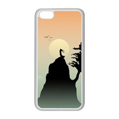 Cliff Mountain Tree  Apple Iphone 5c Seamless Case (white) by amphoto