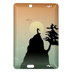 Cliff Mountain Tree  Amazon Kindle Fire Hd (2013) Hardshell Case by amphoto