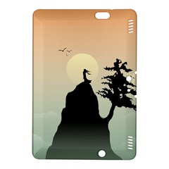 Cliff Mountain Tree  Kindle Fire Hdx 8 9  Hardshell Case by amphoto
