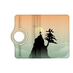 Cliff Mountain Tree  Kindle Fire Hd (2013) Flip 360 Case by amphoto