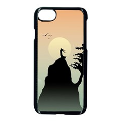 Cliff Mountain Tree  Apple Iphone 7 Seamless Case (black) by amphoto