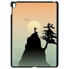 Cliff Mountain Tree  Apple Ipad Pro 9 7   Black Seamless Case by amphoto