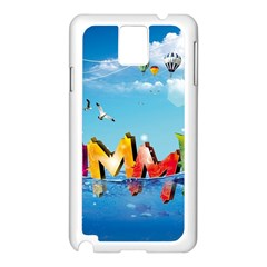 Summer Sea Clouds  Samsung Galaxy Note 3 N9005 Case (white) by amphoto