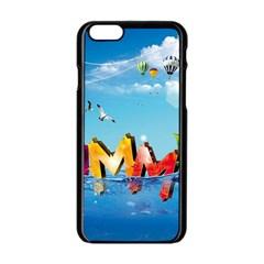 Summer Sea Clouds  Apple Iphone 6/6s Black Enamel Case by amphoto