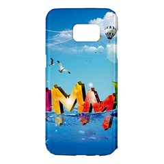 Summer Sea Clouds  Samsung Galaxy S7 Edge Hardshell Case by amphoto