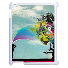 Man Crazy Surreal  Apple Ipad 2 Case (white) by amphoto