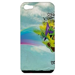 Man Crazy Surreal  Apple Iphone 5 Hardshell Case by amphoto