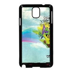 Man Crazy Surreal  Samsung Galaxy Note 3 Neo Hardshell Case (black) by amphoto