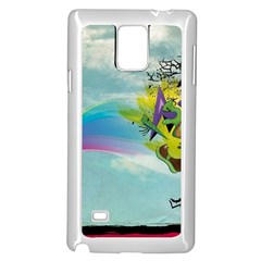 Man Crazy Surreal  Samsung Galaxy Note 4 Case (white) by amphoto