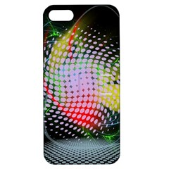 Colorful Lines Dots  Apple Iphone 5 Hardshell Case With Stand by amphoto