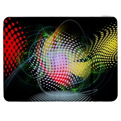 Colorful Lines Dots  Samsung Galaxy Tab 7  P1000 Flip Case by amphoto