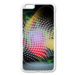 Colorful Lines Dots  Apple Iphone 6 Plus/6s Plus Enamel White Case by amphoto