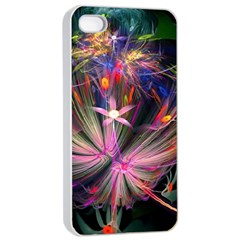 Patterns Lines Bright  Apple Iphone 4/4s Seamless Case (white) by amphoto