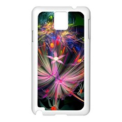 Patterns Lines Bright  Samsung Galaxy Note 3 N9005 Case (white) by amphoto