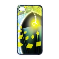Line Light Form  Apple Iphone 4 Case (black) by amphoto