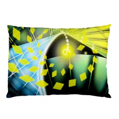 Line Light Form  Pillow Case (two Sides) by amphoto