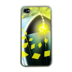 Line Light Form  Apple Iphone 4 Case (clear) by amphoto