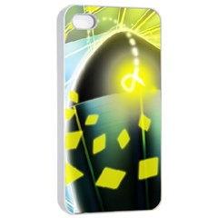 Line Light Form  Apple Iphone 4/4s Seamless Case (white) by amphoto