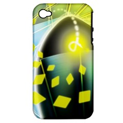 Line Light Form  Apple Iphone 4/4s Hardshell Case (pc+silicone) by amphoto