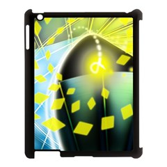 Line Light Form  Apple Ipad 3/4 Case (black) by amphoto
