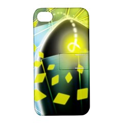 Line Light Form  Apple Iphone 4/4s Hardshell Case With Stand by amphoto