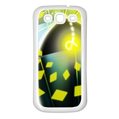 Line Light Form  Samsung Galaxy S3 Back Case (white) by amphoto