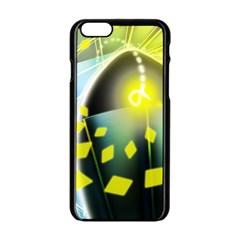 Line Light Form  Apple Iphone 6/6s Black Enamel Case by amphoto