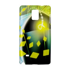 Line Light Form  Samsung Galaxy Note 4 Hardshell Case by amphoto