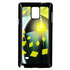 Line Light Form  Samsung Galaxy Note 4 Case (black) by amphoto