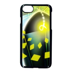 Line Light Form  Apple Iphone 7 Seamless Case (black) by amphoto