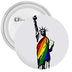 Pride Statue Of Liberty  3  Buttons by Valentinaart