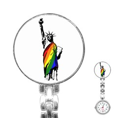 Pride Statue Of Liberty  Stainless Steel Nurses Watch by Valentinaart