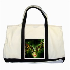 Leaves Explosion Line  Two Tone Tote Bag by amphoto
