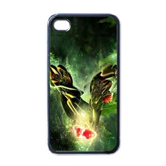 Leaves Explosion Line  Apple Iphone 4 Case (black) by amphoto
