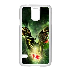 Leaves Explosion Line  Samsung Galaxy S5 Case (white) by amphoto
