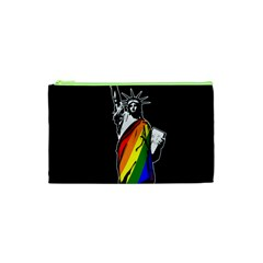 Pride Statue Of Liberty  Cosmetic Bag (xs) by Valentinaart