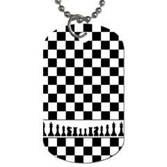 Chess  Dog Tag (two Sides) by Valentinaart