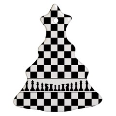 Chess  Christmas Tree Ornament (two Sides) by Valentinaart