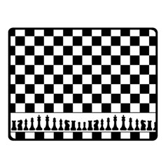 Chess  Double Sided Fleece Blanket (small)  by Valentinaart