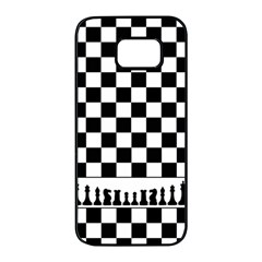 Chess  Samsung Galaxy S7 Edge Black Seamless Case by Valentinaart