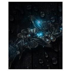 Dark Light Ball  Drawstring Bag (small) by amphoto