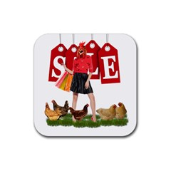 Sale Rubber Square Coaster (4 Pack)  by Valentinaart