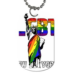 Lgbt New York Dog Tag (two Sides) by Valentinaart