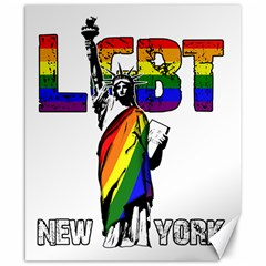 Lgbt New York Canvas 8  X 10  by Valentinaart
