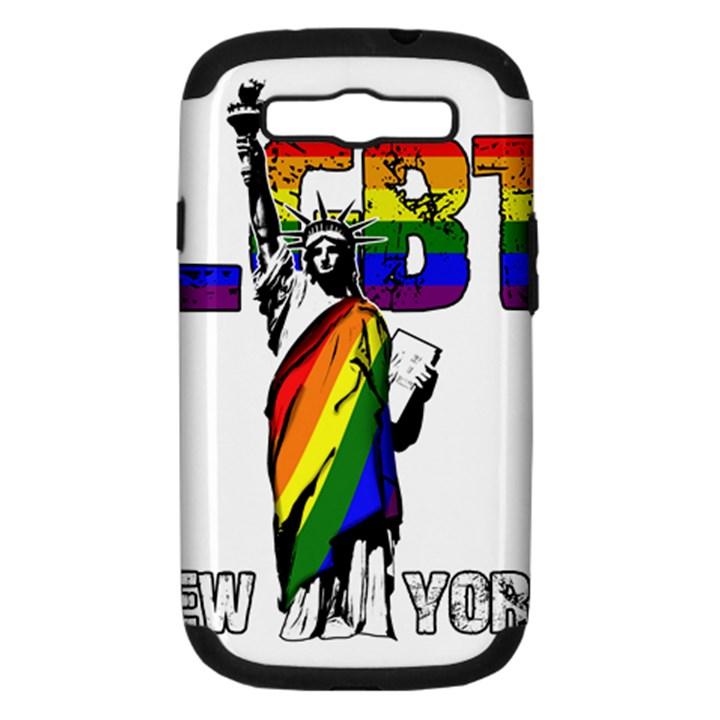 LGBT New York Samsung Galaxy S III Hardshell Case (PC+Silicone)