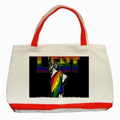 Lgbt New York Classic Tote Bag (red) by Valentinaart