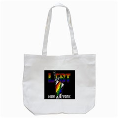 Lgbt New York Tote Bag (white) by Valentinaart