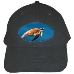 Sea Turtle Black Cap by Valentinaart